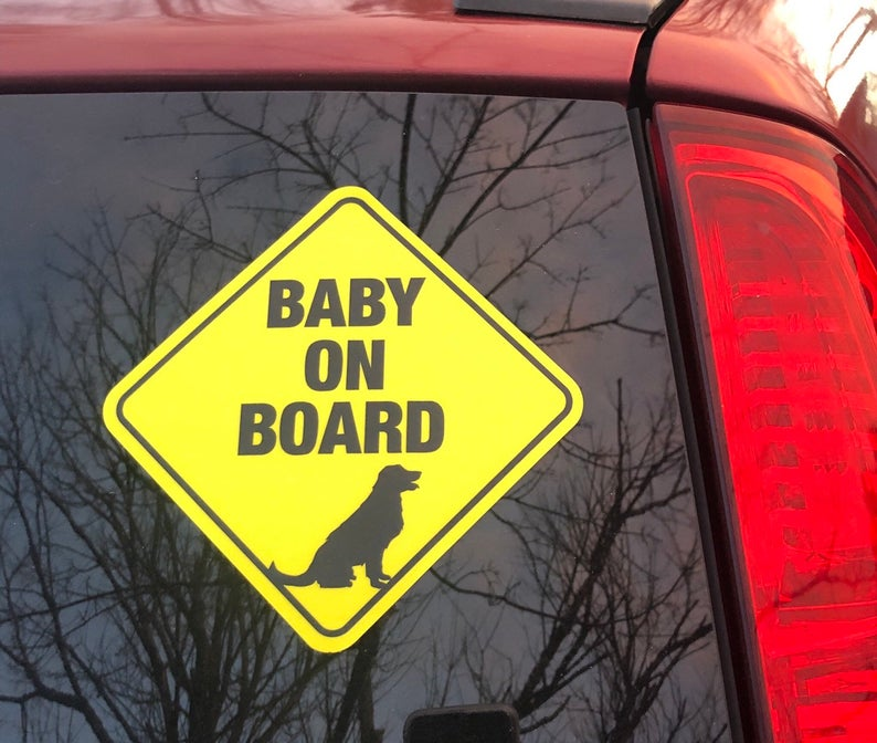 baby on board dog sign