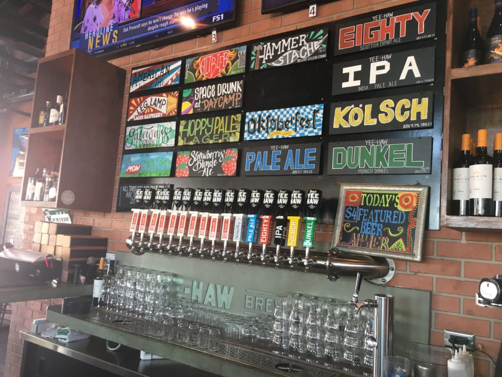 yee-haw brewery greenville sc tap list