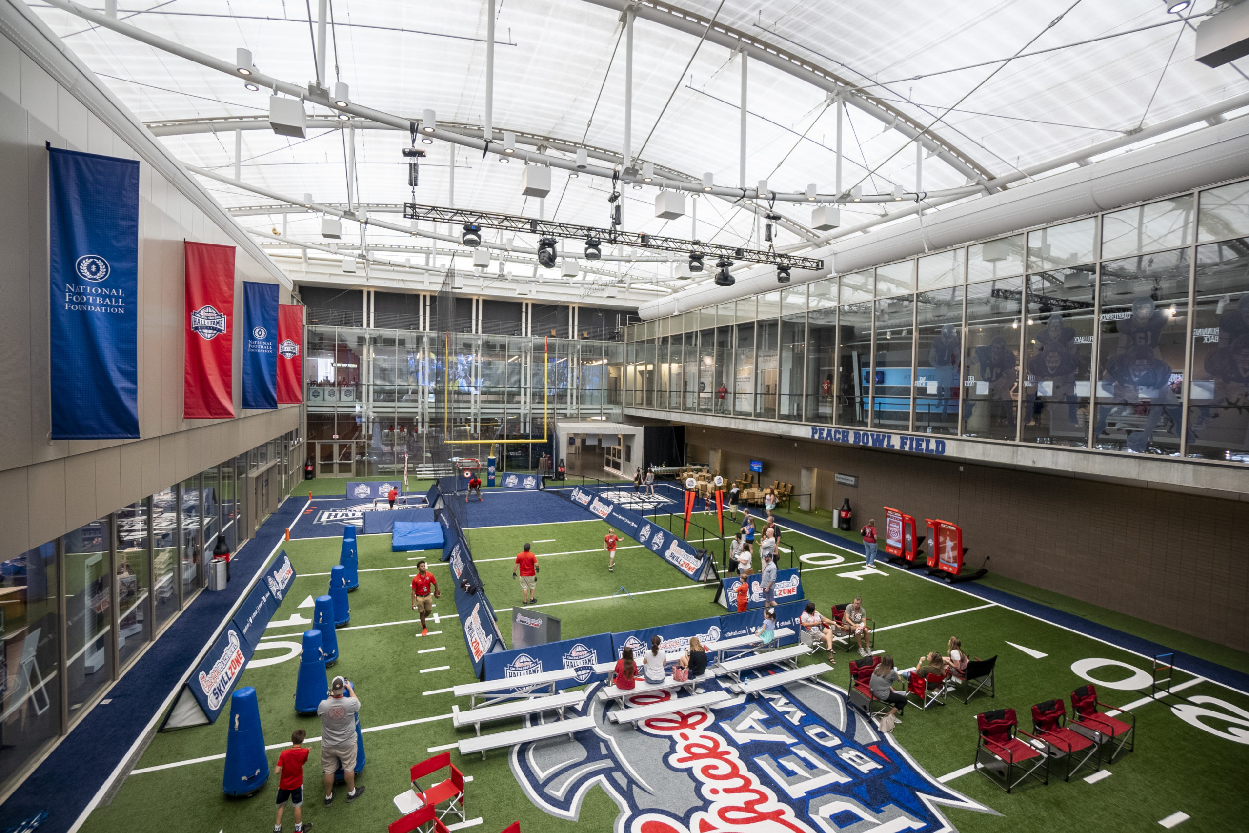Visit the Chick-fil-A College Football Hall of Fame, just one of many Atlanta museums.