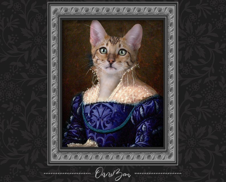 custom pet portrait renaissance
