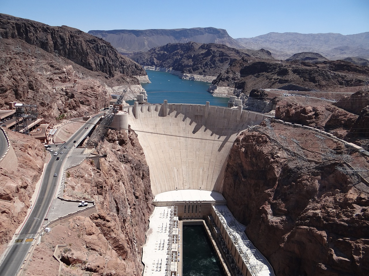 The impressive engineering wonder, Hoover Dam, in Boulder City is one of the best day trips from Las Vegas.