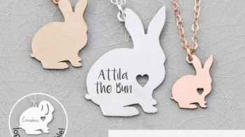 bunny necklace gift for rabbit lovers- gifts for pet owners