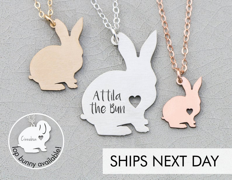 bunny necklace gift for rabbit lovers
