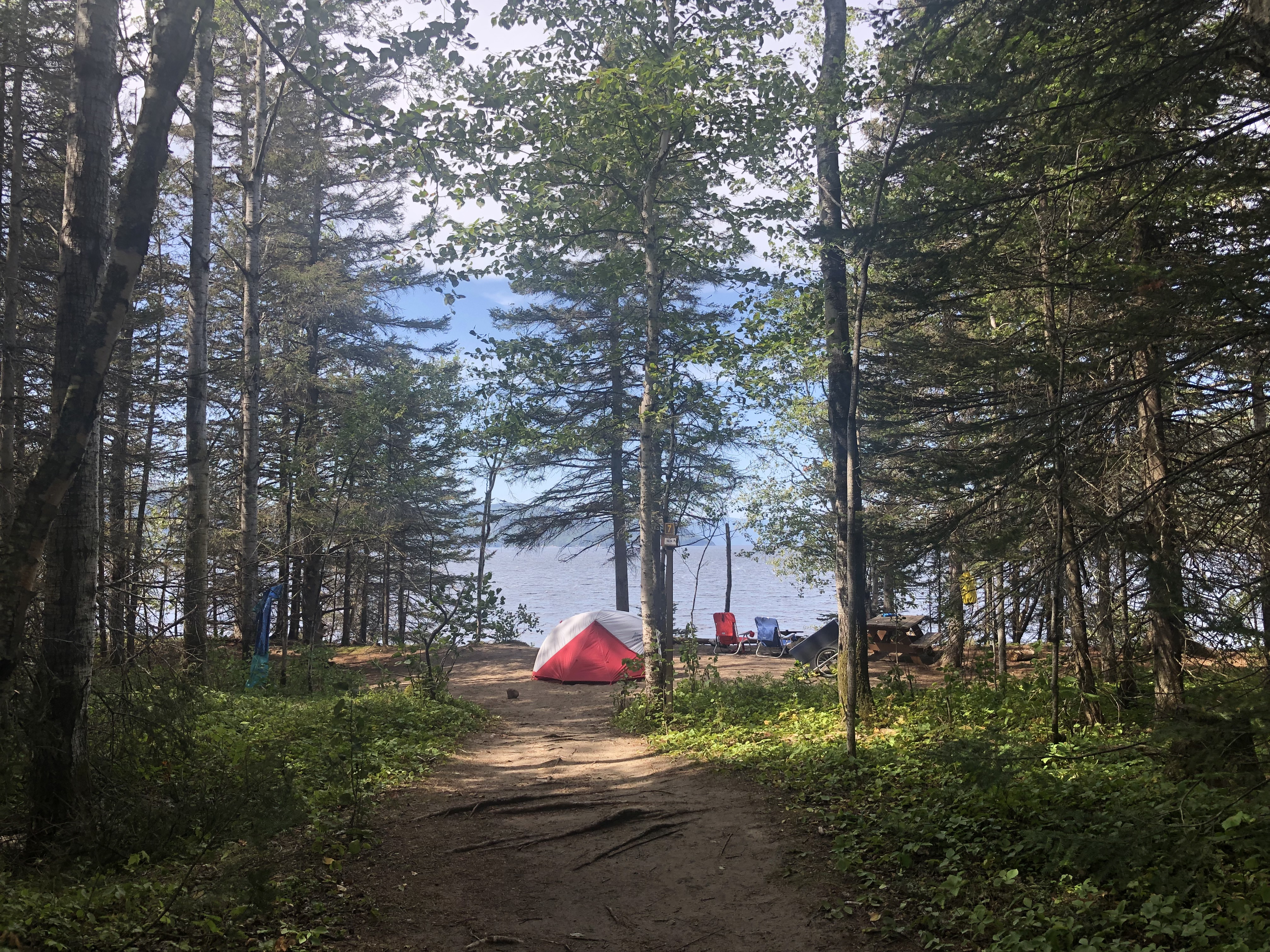 Camping in saguenay quebec.