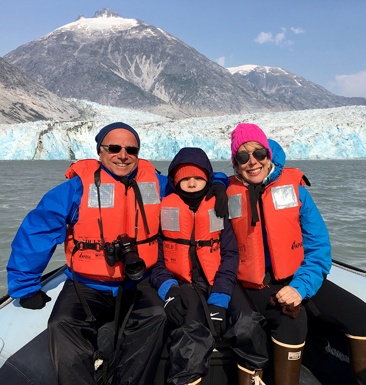 My family on our Uncruise Alaska trip.