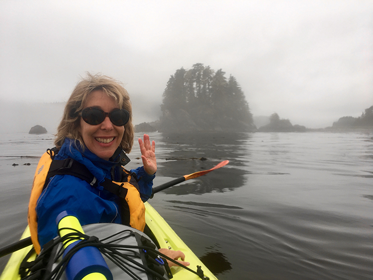 Exploring via kayak on an Uncruise Alaska trip.