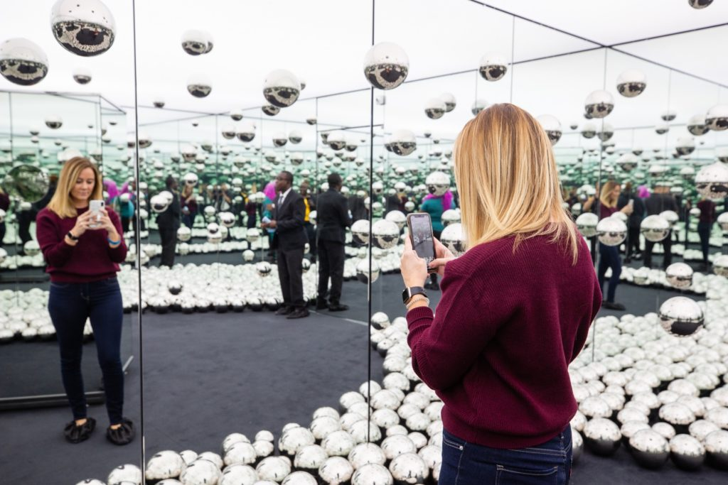 The wndr Museum in Chicago is filled with Instagram-worthy photo ops.