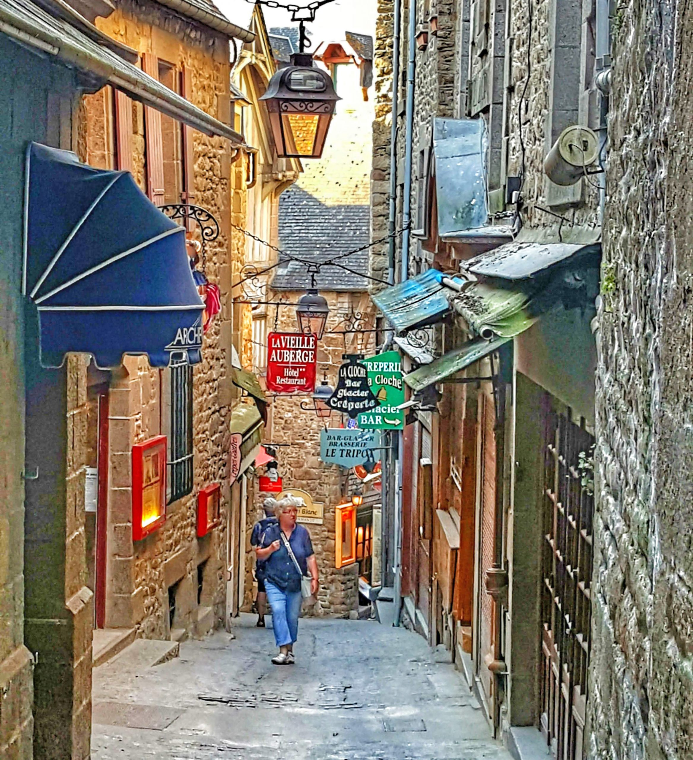 The main street in Mont St. Michel