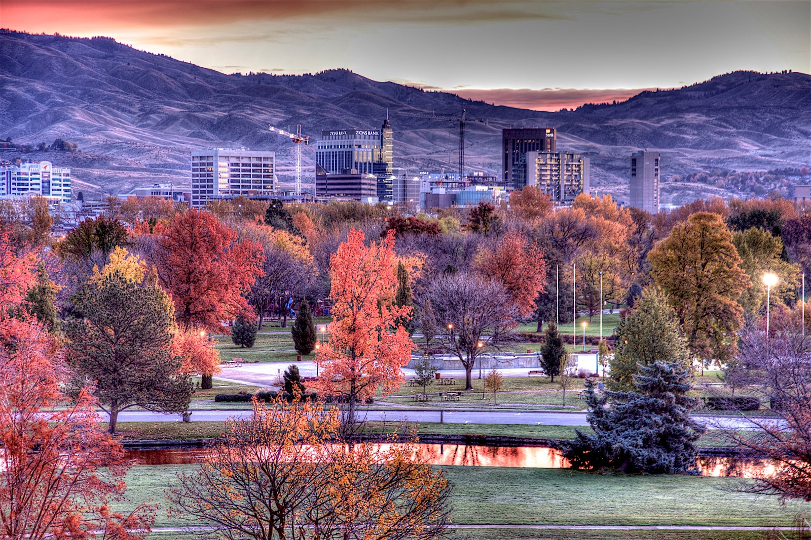 There are many fun things to do in Boise - fall Boise scene.