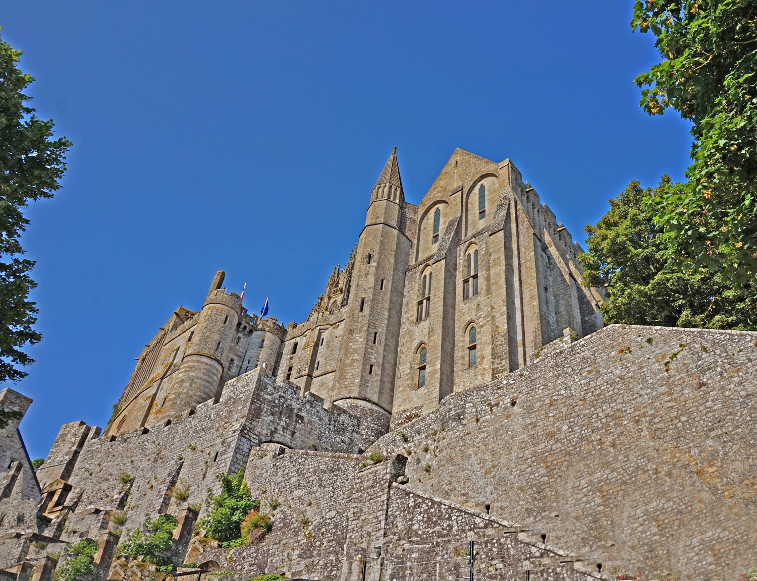 Mont St. Michel France. A all of the fortress.