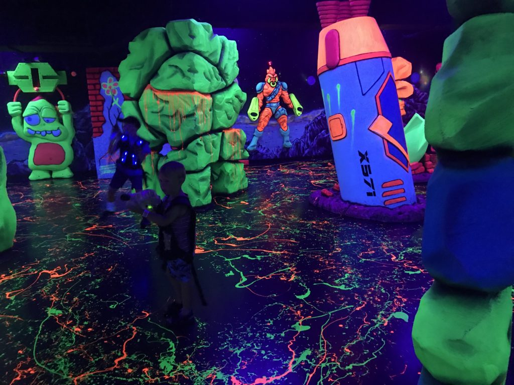 Laser tag at Kalahari Resort Wisconsin Dells waterpark