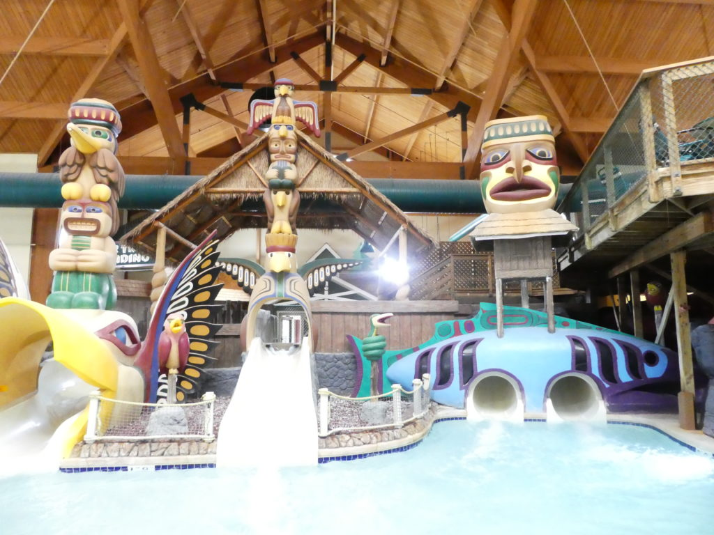 Water slides at the Great Wolf Lodge Wisconsin Dells waterpark