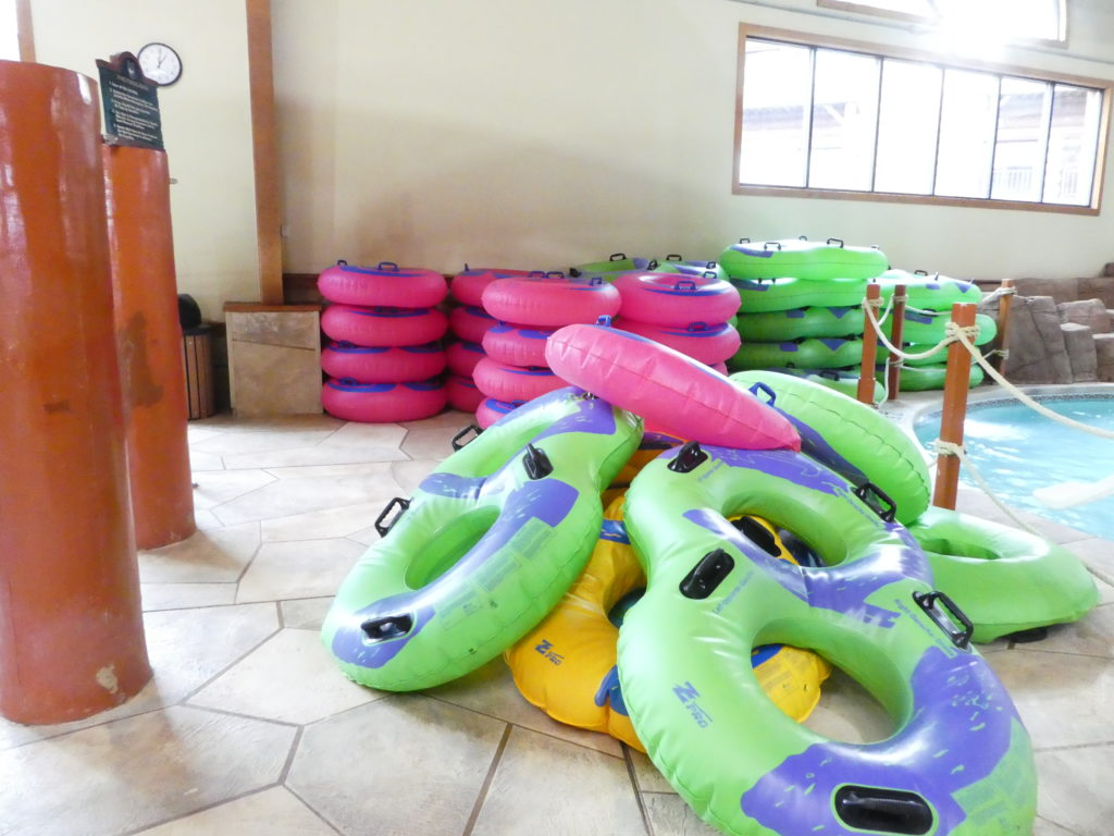 Waterslides tubes at Great Wolf Lodge