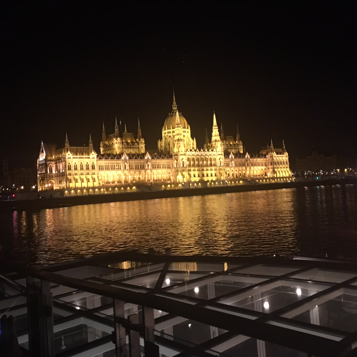 The nighttime lights of Budapest - viking river cruise reviews