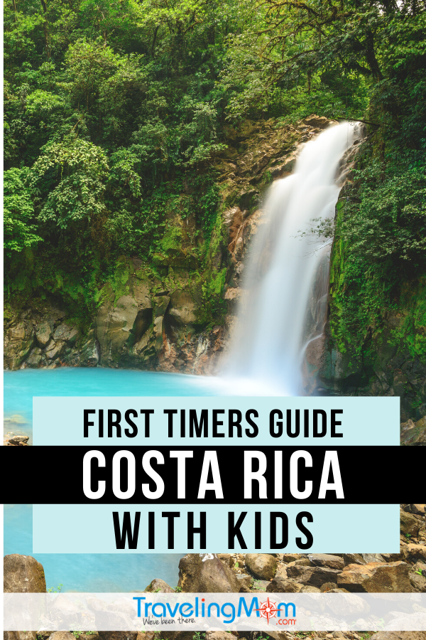 Costa Rica is exotic but accessible for families with access to beaches, volcanoes, rainforests and sloths! This first timers guide will help you decide on activities that are best for travel with kids. #TMOM #CostaRica #TravelwithKids #FamilyTravel #InternationalTravel TravelingMom