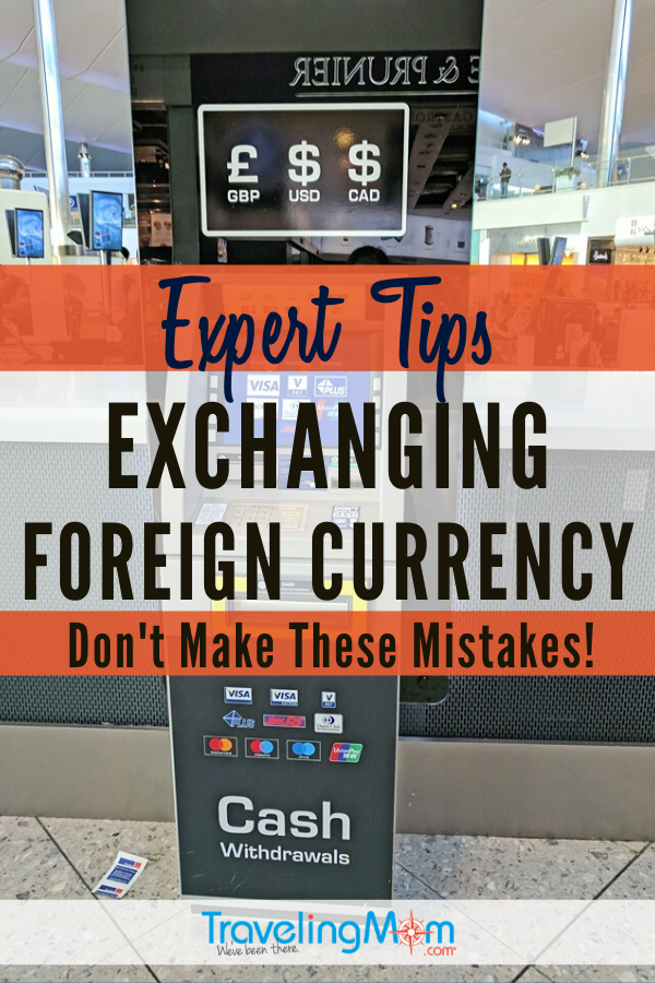 Traveling abroad and need to cash on hand? Whether you're a seasoned foreign traveler or this is your first time, these are the expert tips to follow when exchanging international currency. #TMOM #TravelTips #InternationalTravel | TravelingMom | Money Exchange | Travel Tips
