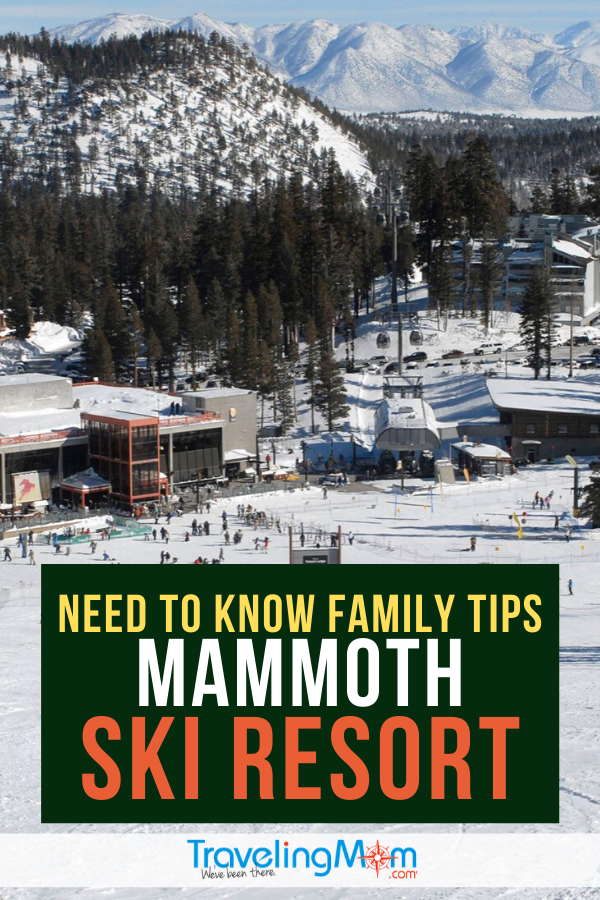 Planning a winter vacation to Mammoth Ski Resort? Get all the must-know family travel tips for this California ski destination including ski school, lift tickets and convenience. #TMOM #SkiResort #Mammoth #MammothLakes #SkiTravel #Skiing #WinterTravel #FamilyTravel #TravelwithKids