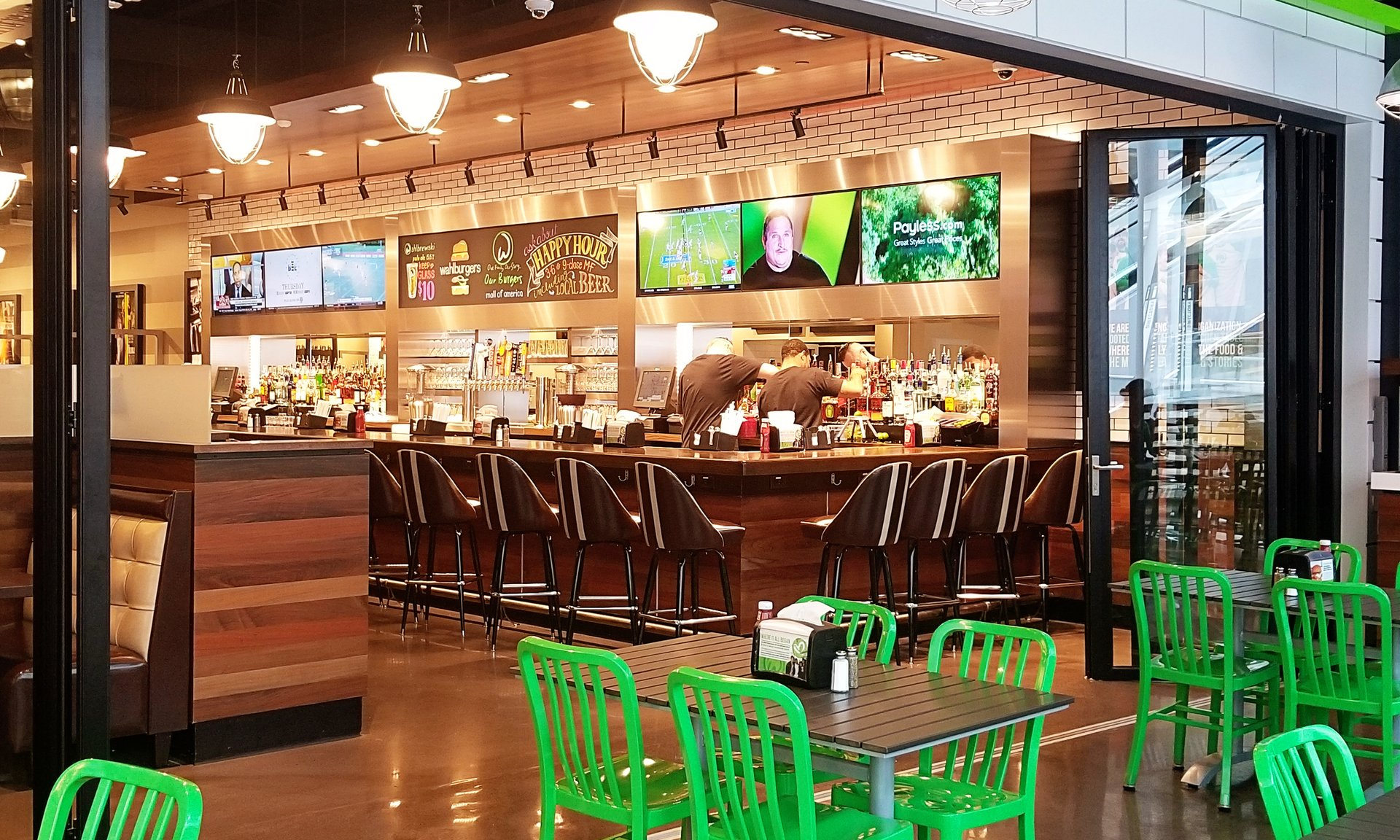 Wahlburgers is one of many mall of america restaurants.