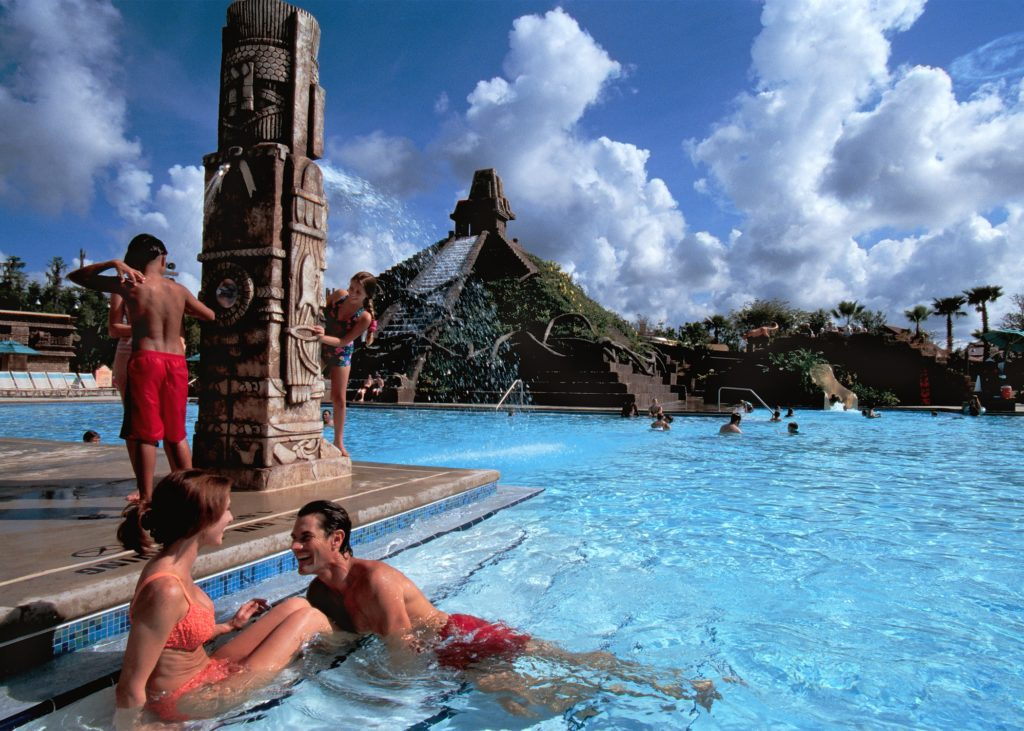 A view of the pool area at the Coronado Springs Resort