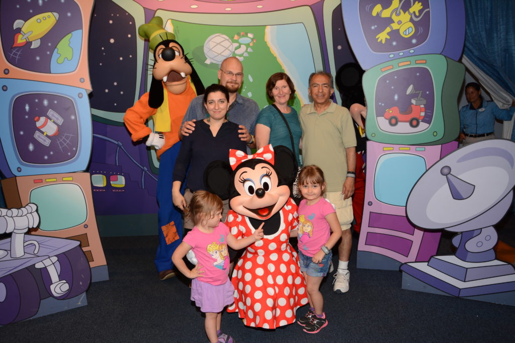 Grandparents at disney with kids