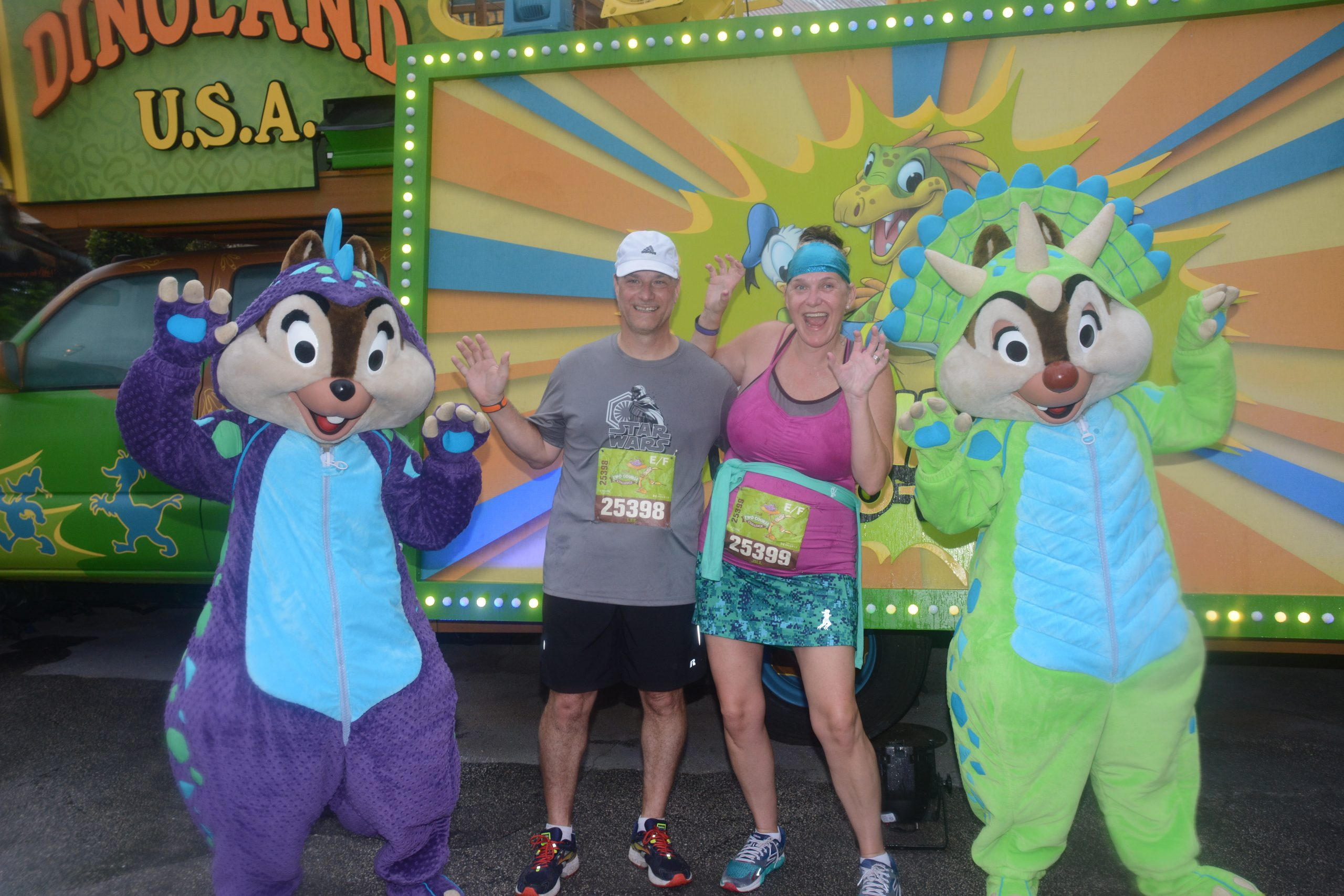 Seeing Chip and Dale with runDisney.