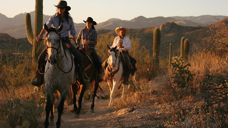 Horseback riding at Tanque Verde Dude Ranch