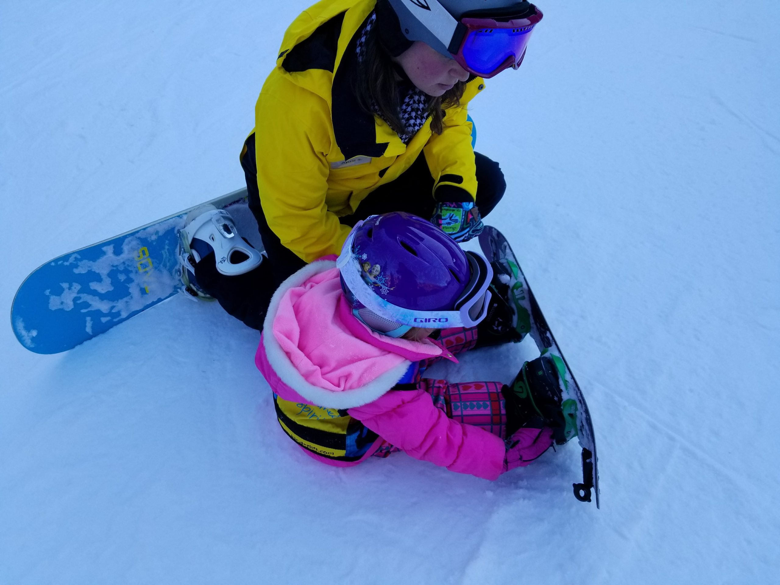 When your winter family vacation includes a day on the ski slopes, be sure to layer your toddler to keep her comfortable all day. Photo: Diana Rowe