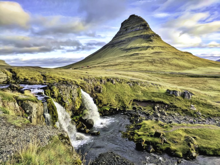 Packing for Iceland. Two waterfalls.