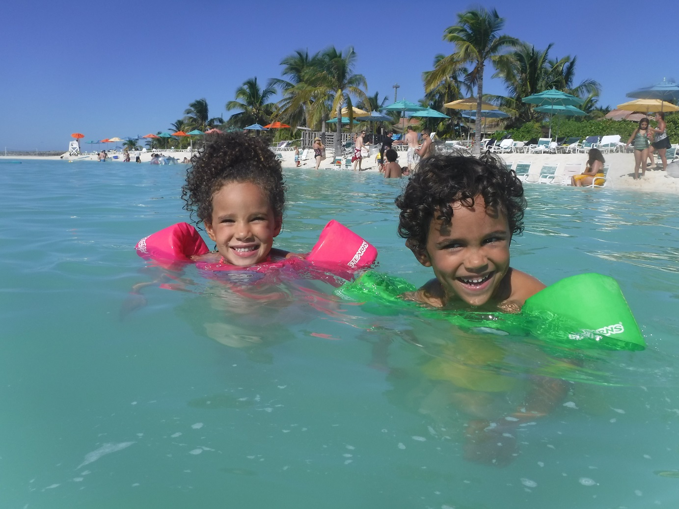 Disney Dream swimming after the best Caribbean cruises.