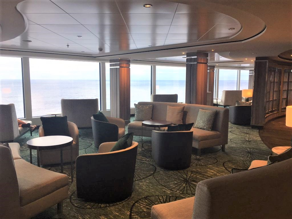 Observation lounge aboard the Norwegian Encore.