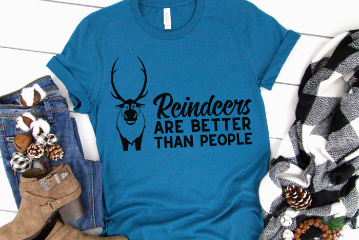 Reindeers are better than people Disney t-shirt