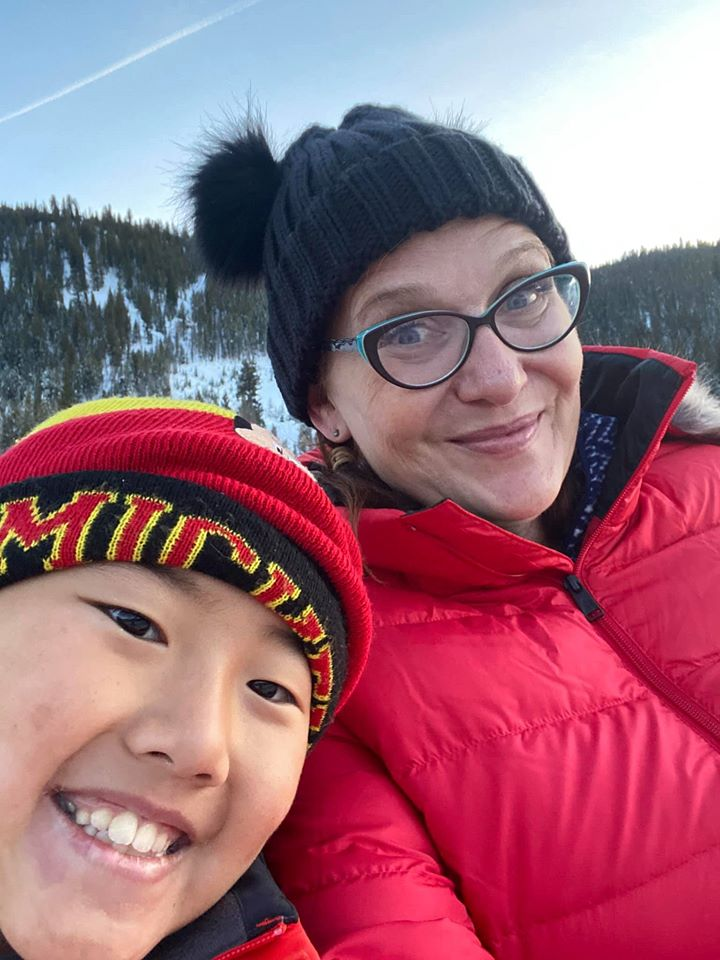 Mother and son with winter hats - travelingmom