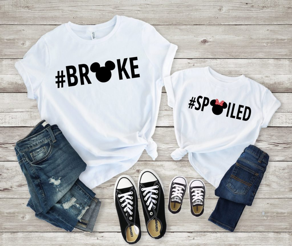 Broke and spoiled Disney vacation shirts