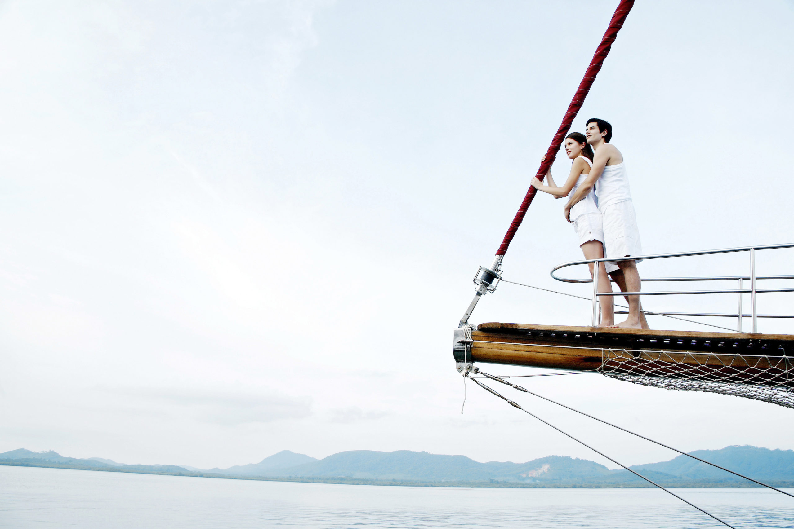Sailing together can be a fun romantic getaway.