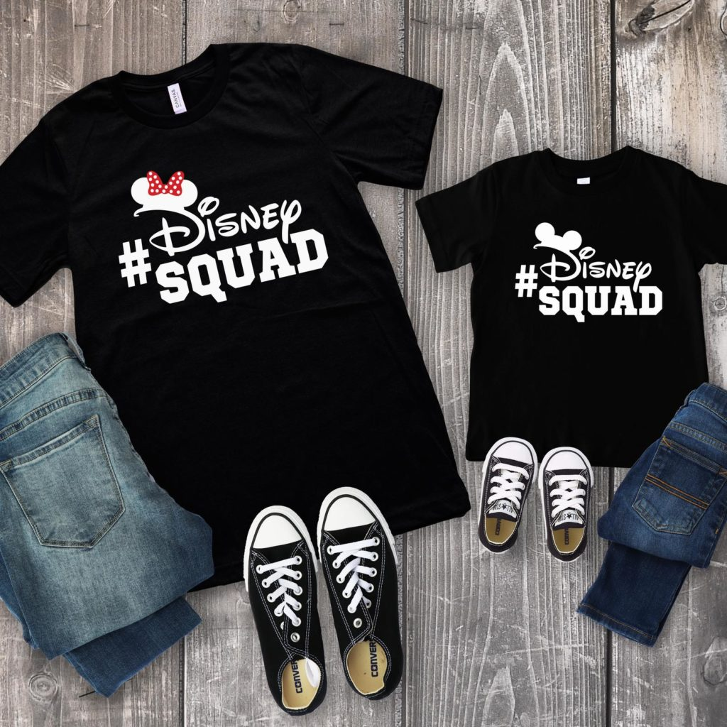 Disney squad matching family Disney t-shirts