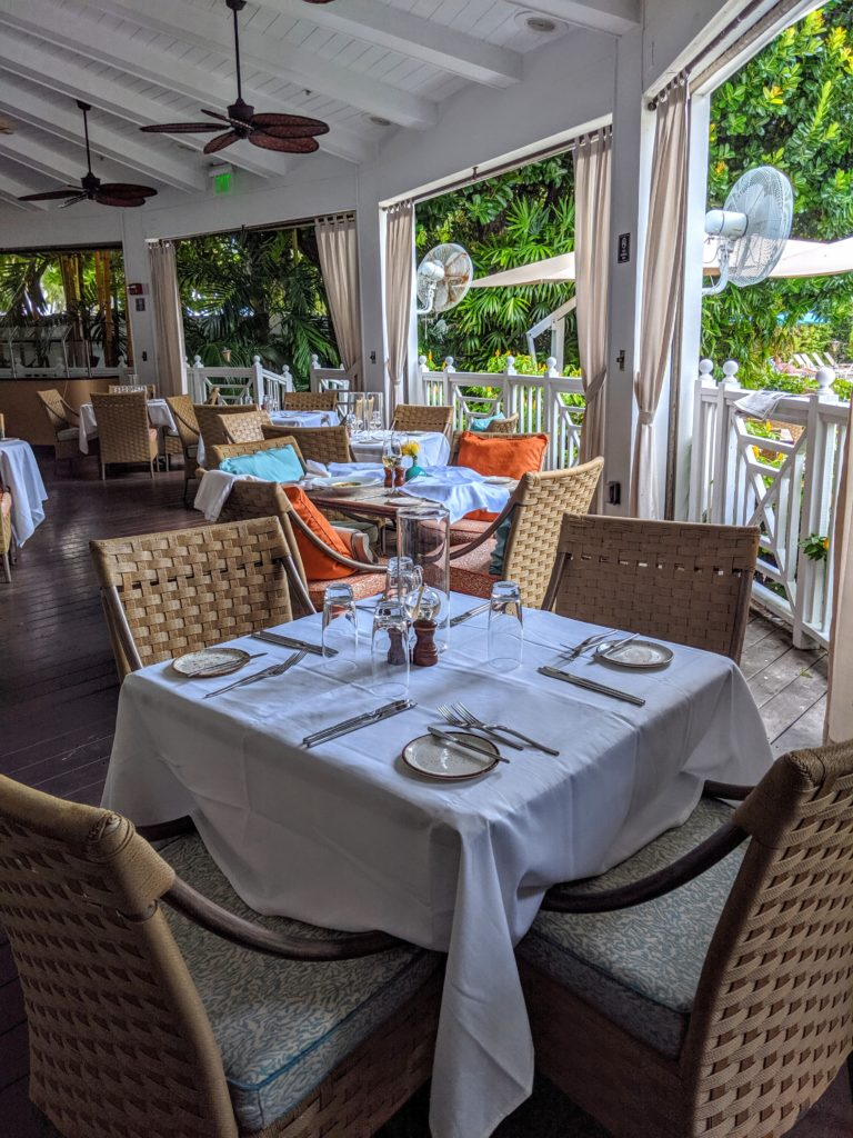 Outdoor dining at The Palms Hotel Miami