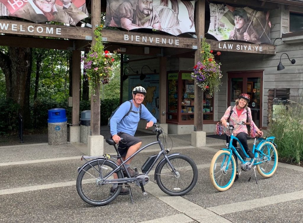Adult couple on bicycles - TravelingMom