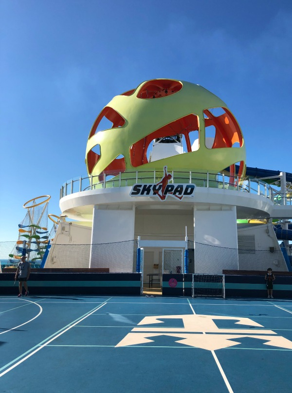 Make sure you plan your activities for port days when you're planning a Royal Caribbean cruise. Your kids will want to check out the sky pad.