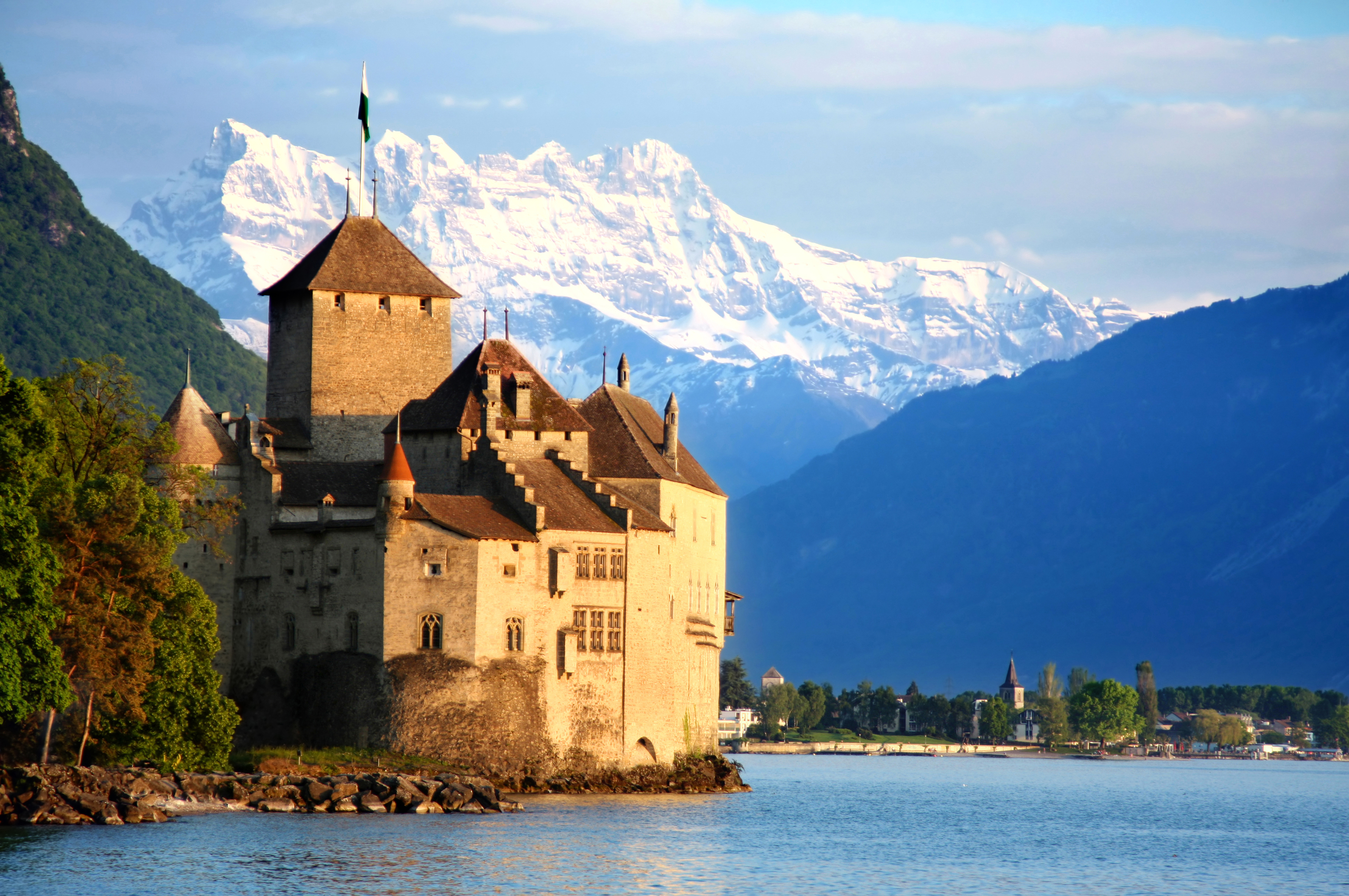 Chateau de Chillon that serves as a model Disney location