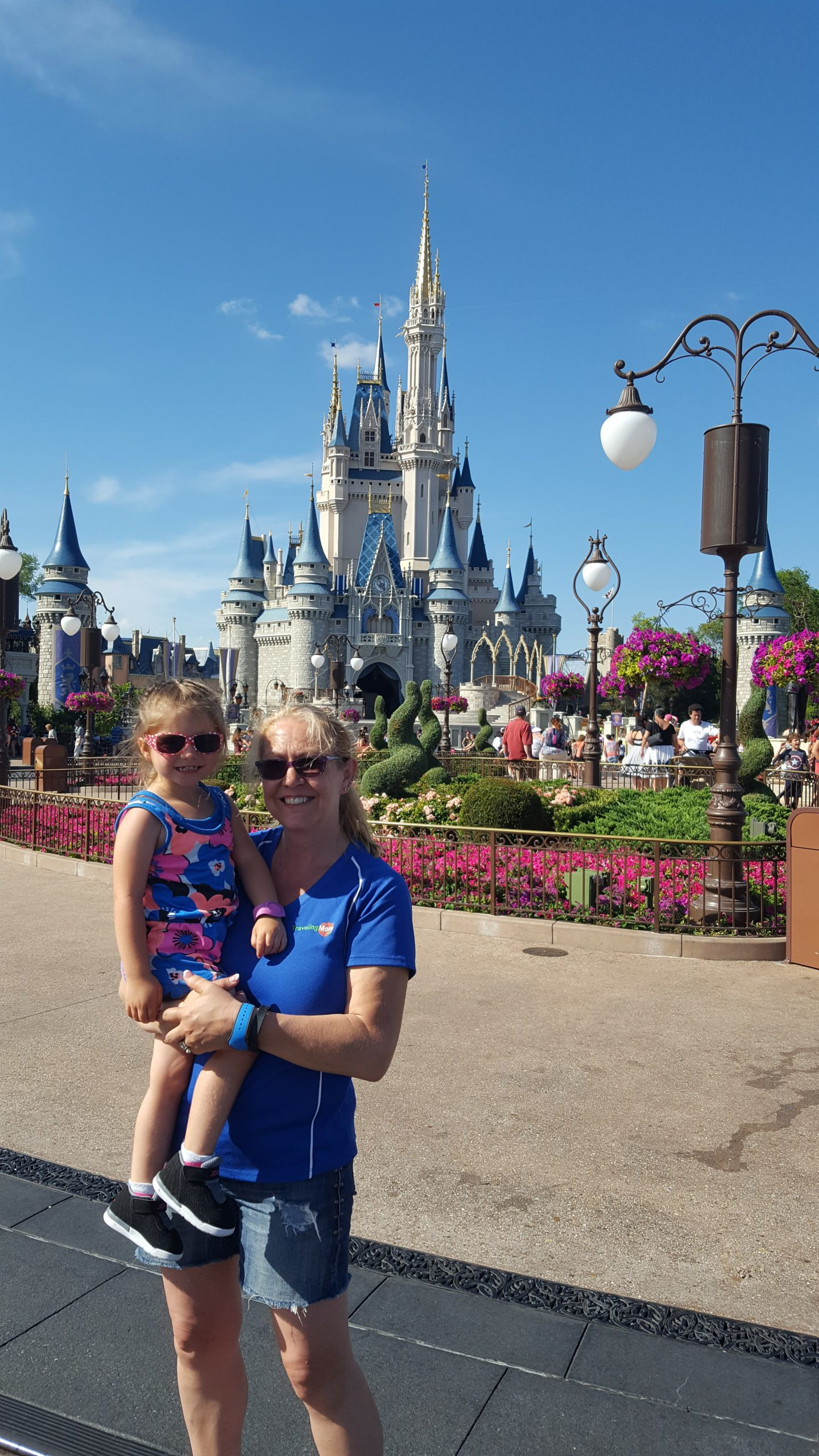 Don't miss the photo opp with Grammie and granddaughter in front of Cinderella's Castle inside Disney's Magic Kingdom.
