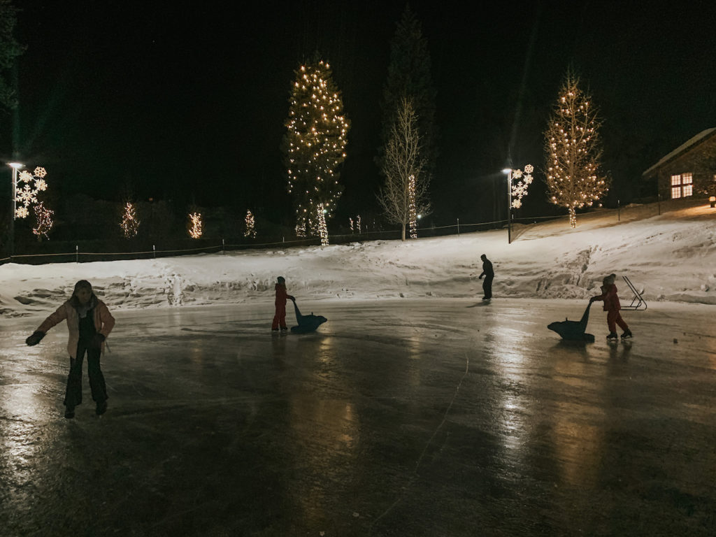 The ice rink at Winter Park Resort