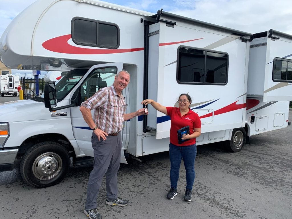 RVshare customers outside a motorhome - TravelingMom