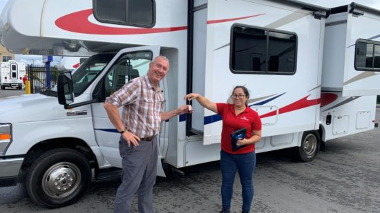 rent rv from the owners key handoff