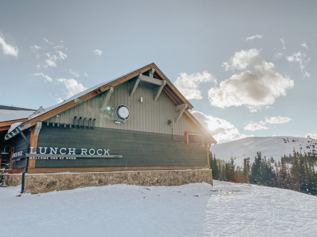 The front of the lunch rock.