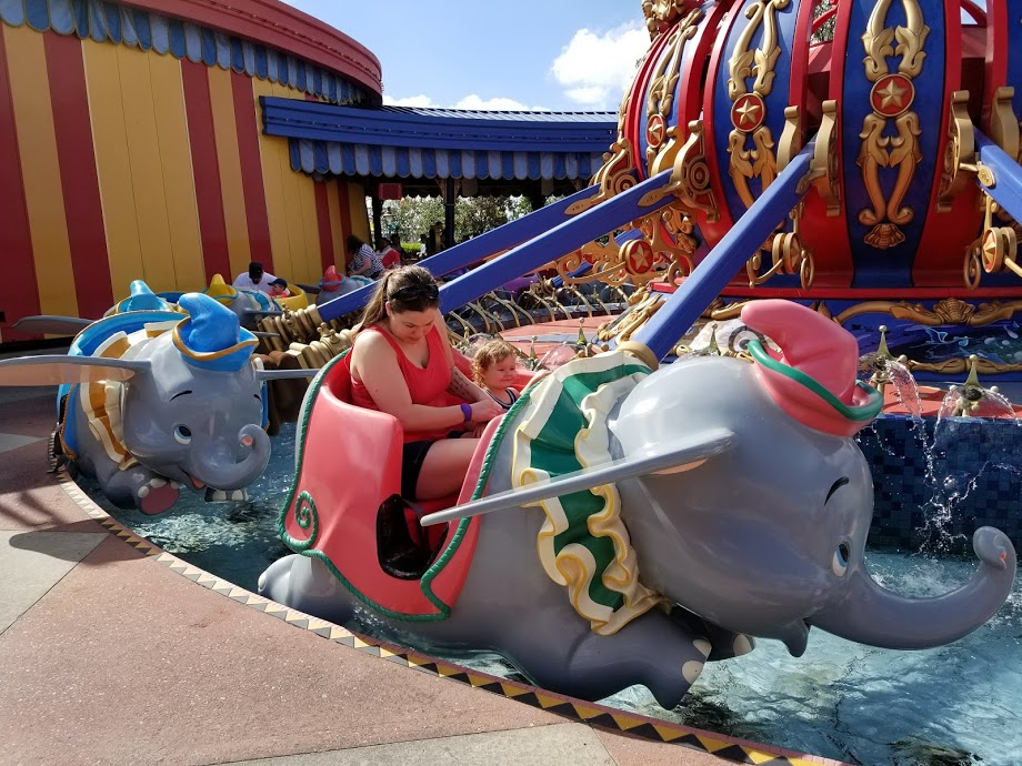 Disney World toddler rides Like Dumbo the Flying Elephant in the Magic Kingdom are also perfect for grandparents