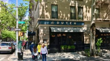 the dutch restaurant on Prince Street corner New York city