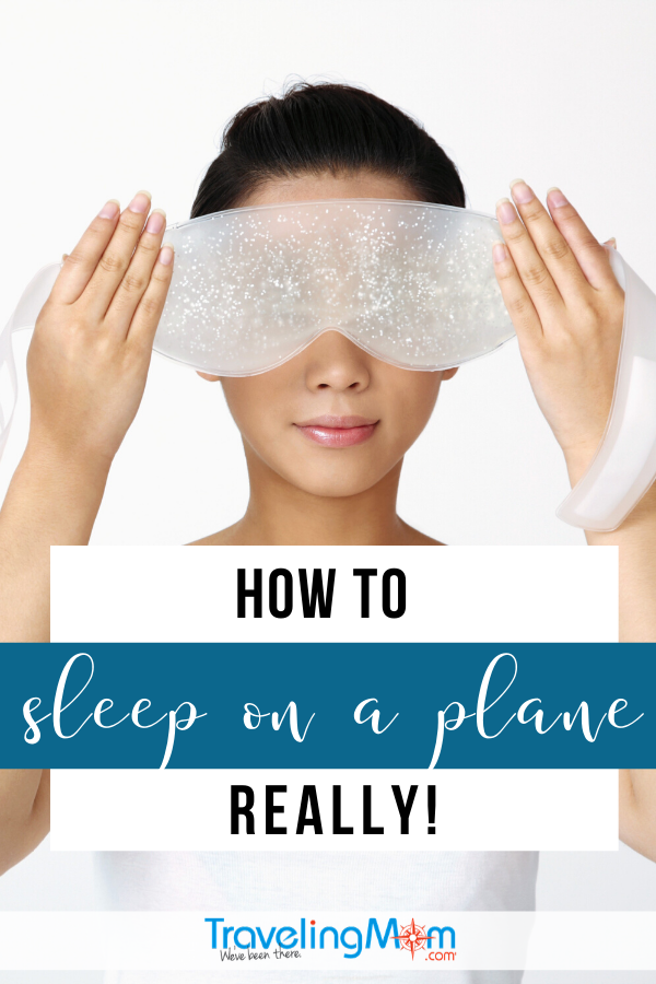 how to sleep on a plane pin image