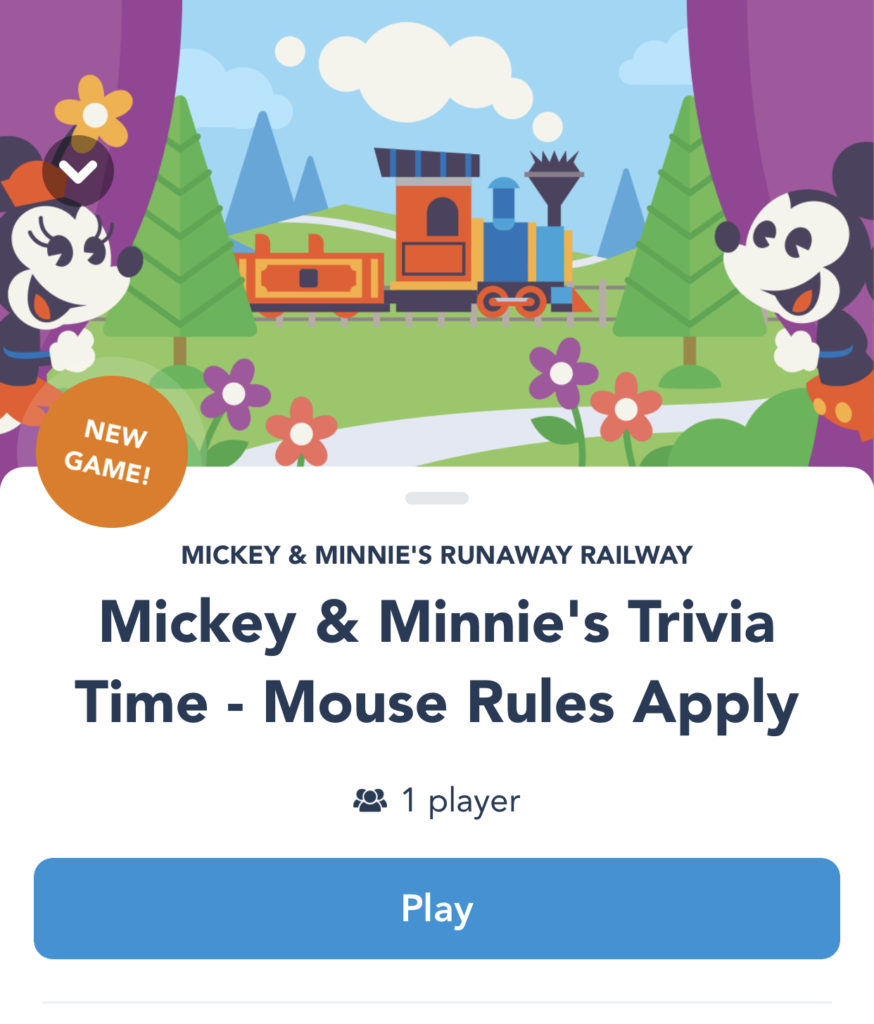 Disney play app game that you can play at home
