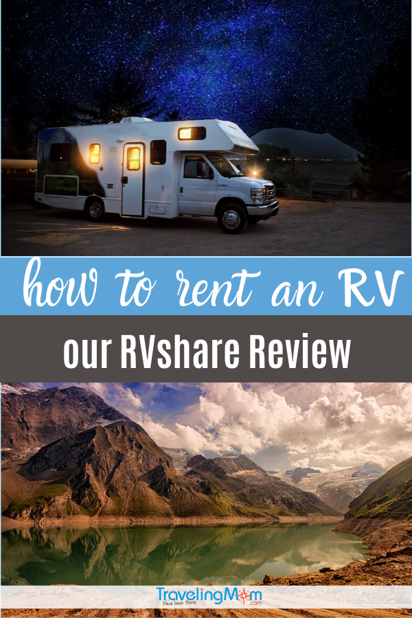 rv against night sky and Banff national park