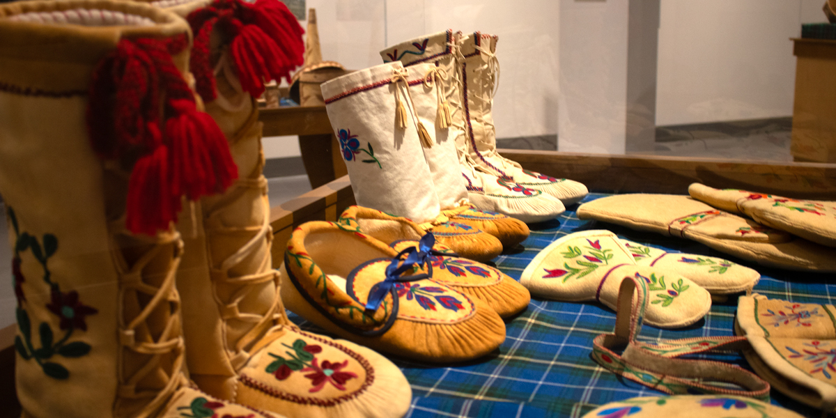 photo, historic artisan embroidered boots